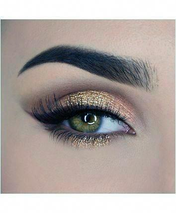 Nude Gold And Light Brown Eyeshadow Women