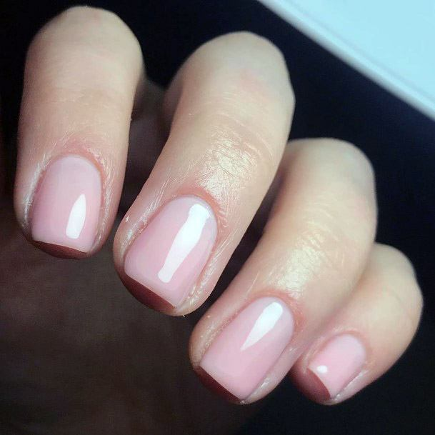 Nude Nails With Pink Tinge Short Nail Ideas Women