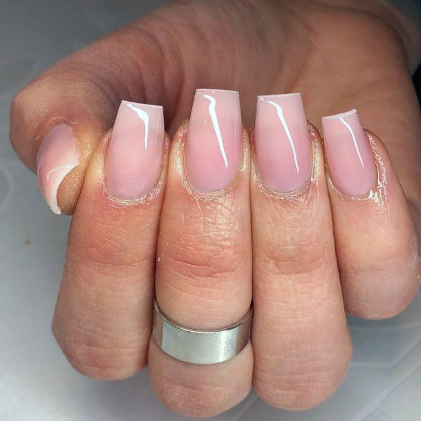 Nude Nails With Square Shape
