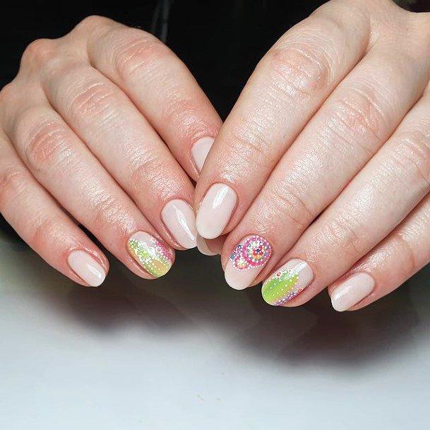 Nude Nails Women Cactus
