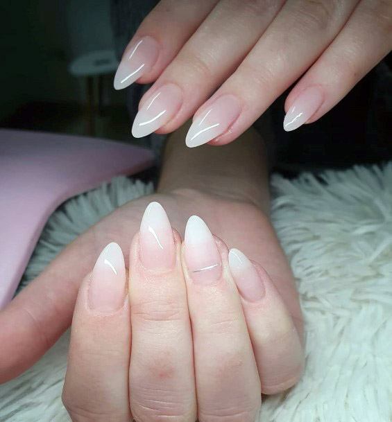 Nude Ombre Sharp Tipped Nails