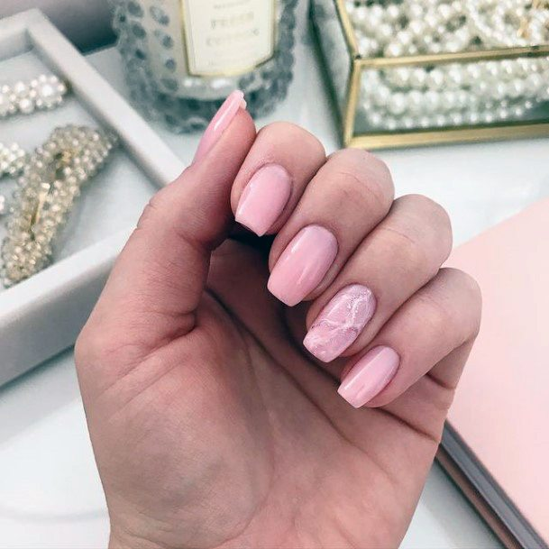 Nude Pink April Nails For Women