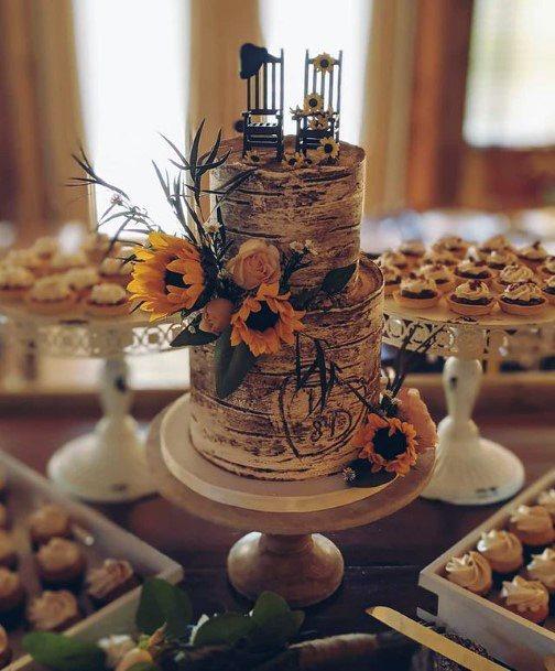 Oh So Good Wedding Cakes Women Sunflowers