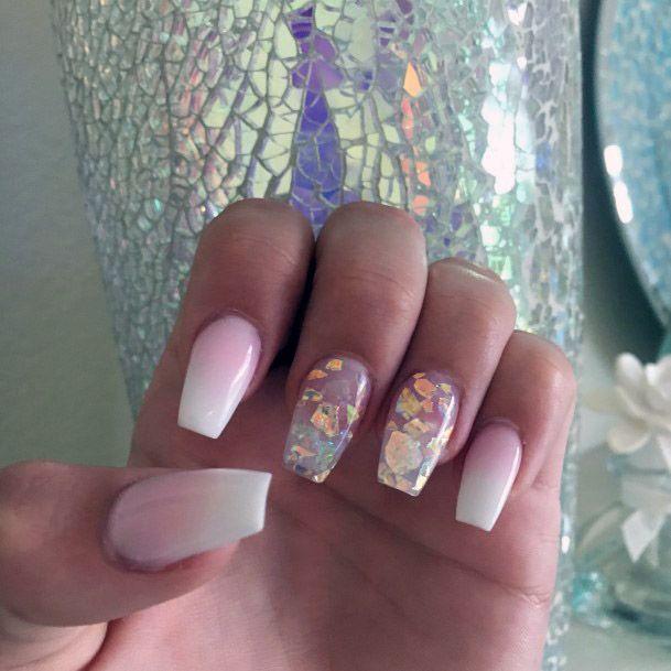 Ombre Iridescent Nails Women