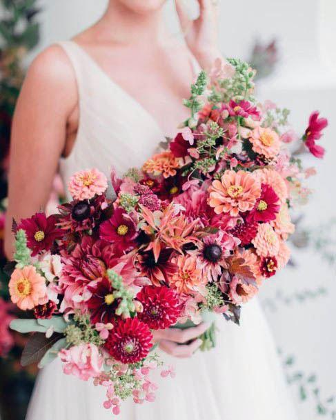 Orange And Red Wedding Flowers