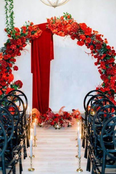 Orange Red Wedding Flowers
