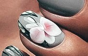 Orchid Womens Nail Art Ideas