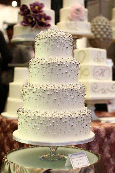 Ornate Fancy Whitewedding Cake Ideasq