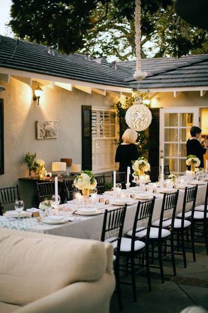 Outdoor Reception Backyard Wedding Ideas