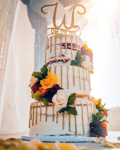 Overflowing Honey Red Velvet Wedding Cake