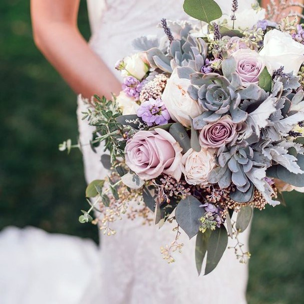 Pale Lavender Wedding Flowers