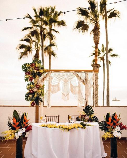 Palm Trees Hawaiian Wedding Flowers