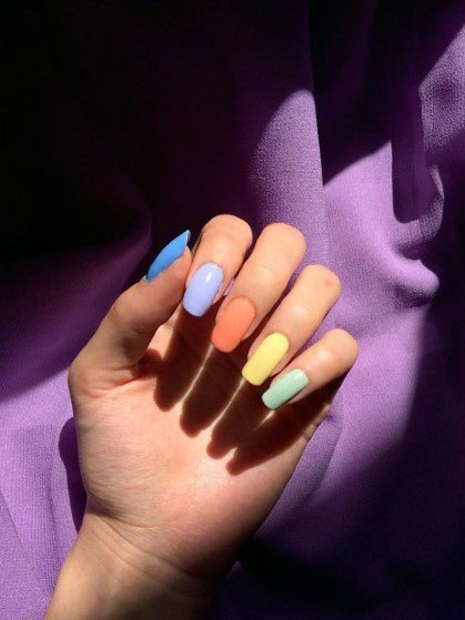 Pastel Colorful Nail Ideas For Women