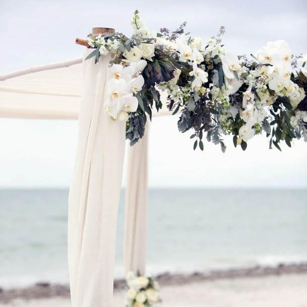 Peaceful Beach Wedding Flowers