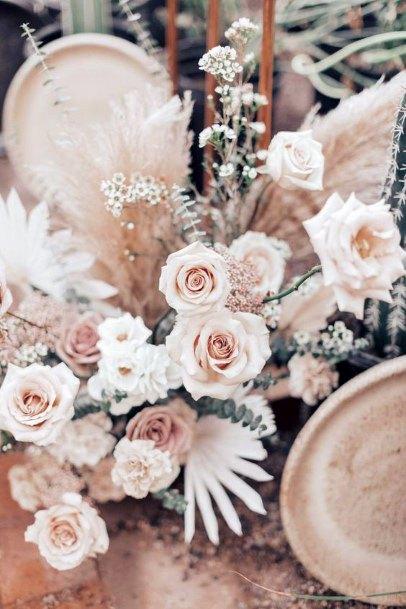 Peach Blush Roses Wedding Flowers Art