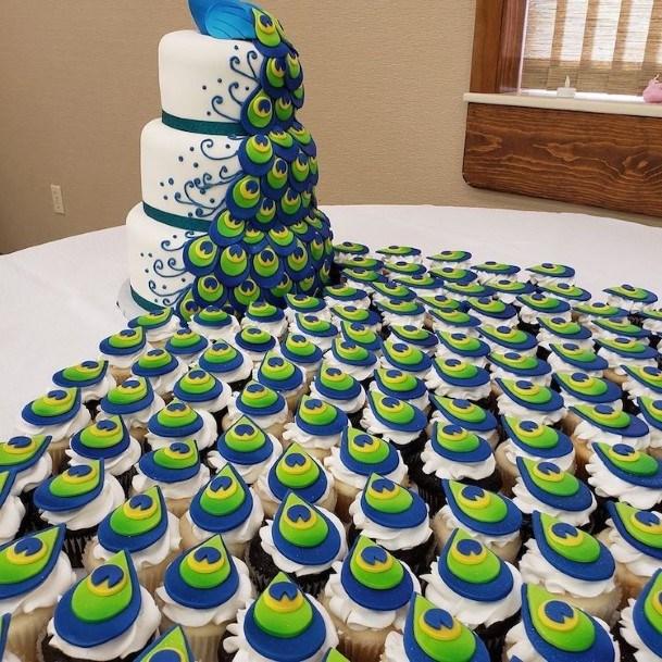 Peacock Wedding Cake Ideas