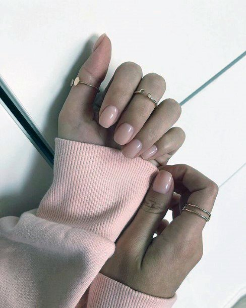 Pearl Natural Nail Ideas For Women