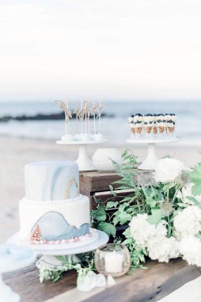 Pearl White Beach Wedding Flowers