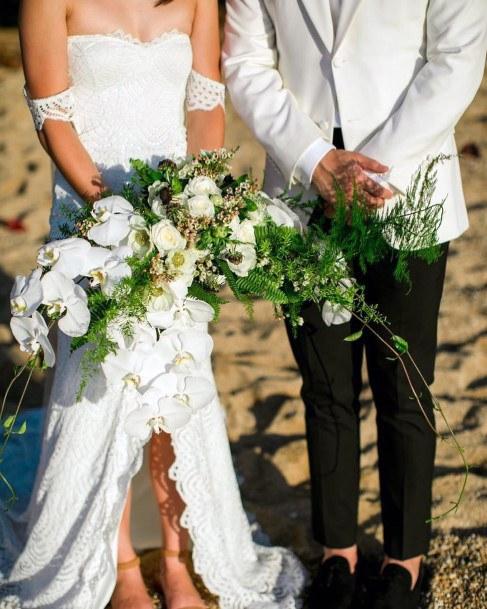 Pearl White Hawaiian Wedding Flowers