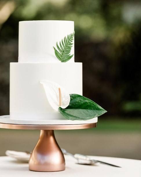 Perfect 2 Tier White Wedding Cake
