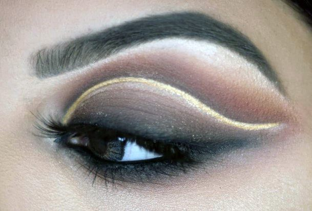Perfect Arc Brown And Gold Eyeshadow Women