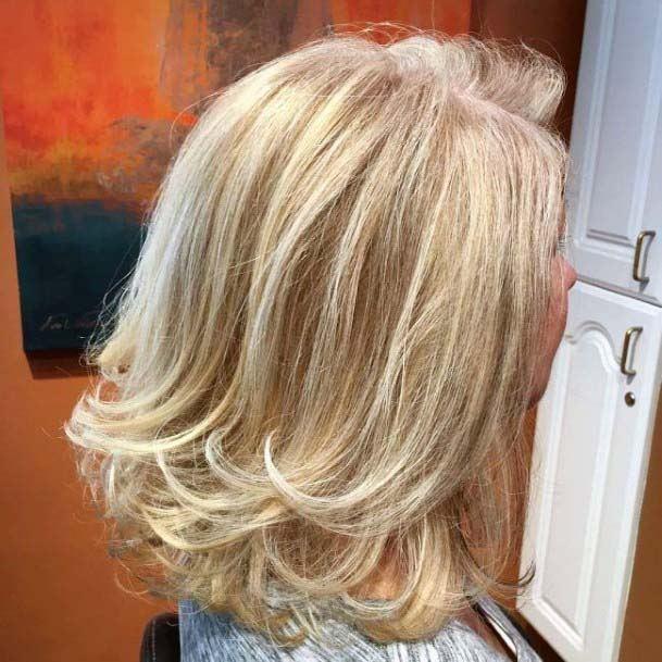 Perfect Blonde Long Bob Classic Hairstyle Women