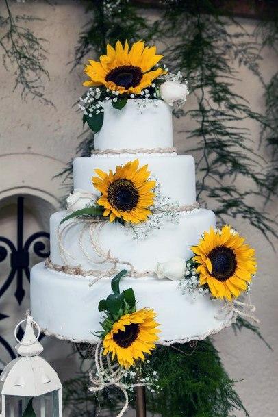 Perfect Sunflower Wedding Cake Women