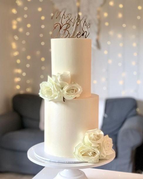 Perfect White Buttercream Wedding Cake
