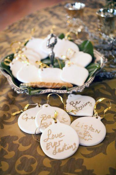 Personalized Ornaments Christmas Inspiration Wedding Guest Book Ideas