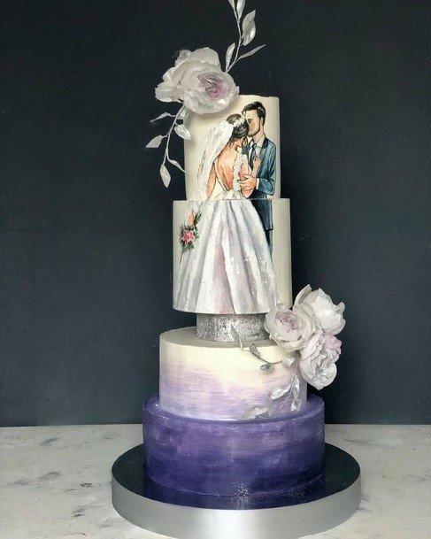 Photo Art On Beautiful Wedding Cakes