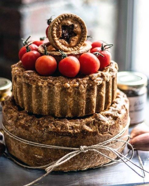 Pie Unique Wedding Cake