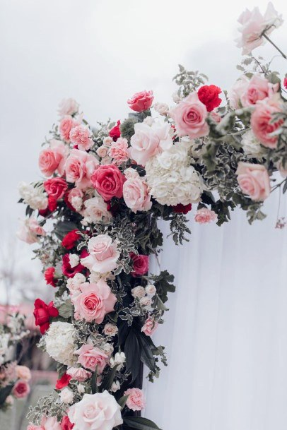 Pink And Rose May Wedding Flowers