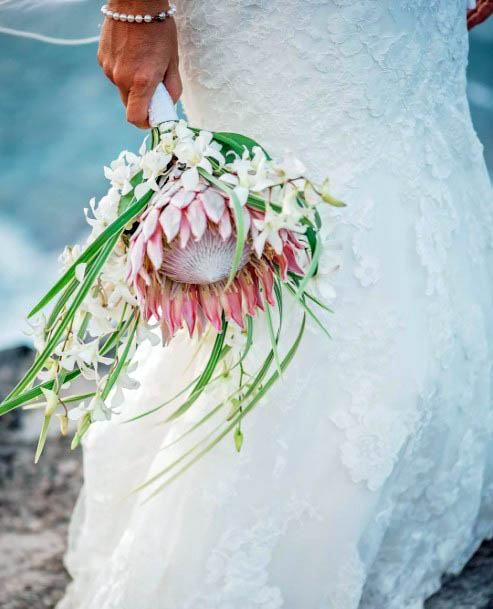Pink Beach Wedding Flowers