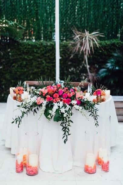 Pink Flowers Hawaiian Wedding