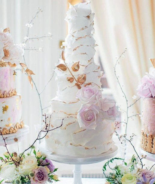 Pink Iced Elegant Wedding Cake Women