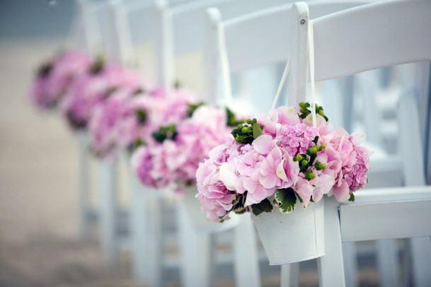 Pink May Flower Basket Wedding Chair