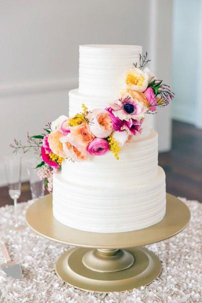 Pink May Flower Wedding Cake Decoration