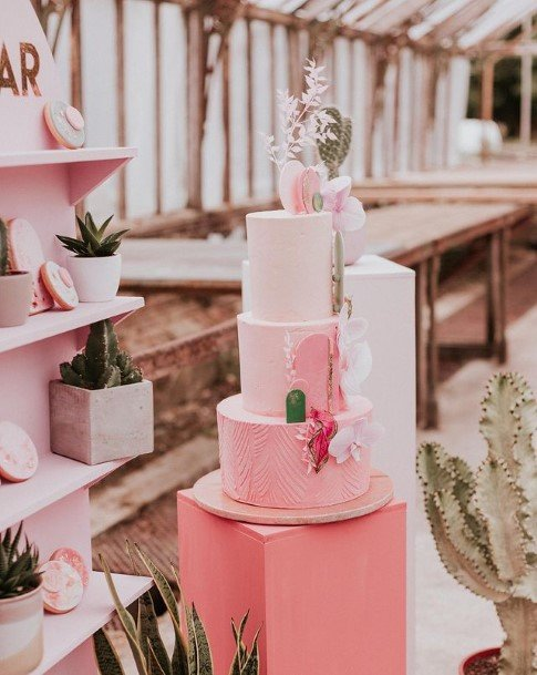 Pink Shades Beautiful Wedding Cakes
