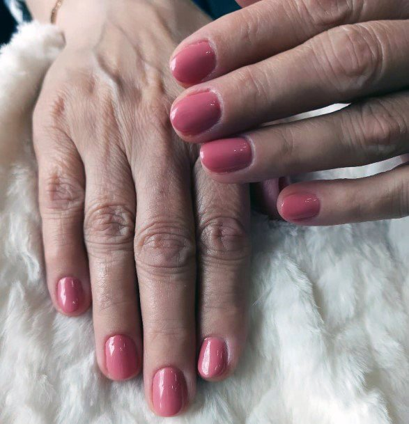 Pink Shellac Nails For Women