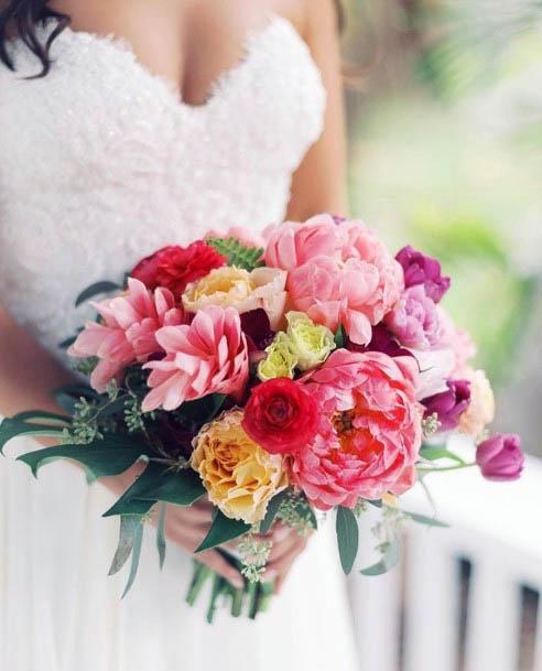Pinkish Beach Wedding Flowers
