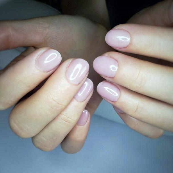 Pinkish Natural Nail Ideas For Women