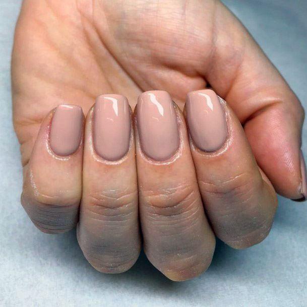 Plain Nude Nails