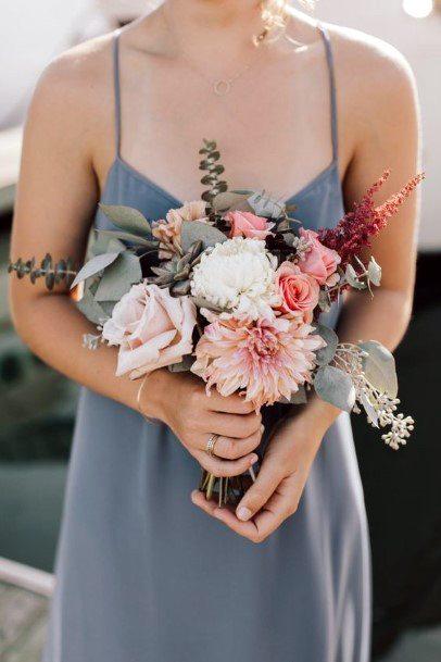 Pleasing Blush Wedding Flowers