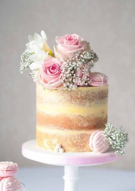Pleasing Pink Roses Country Wedding Cakes