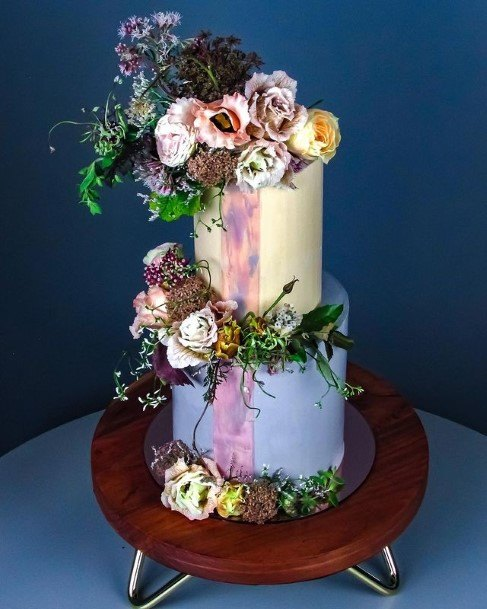 Plethora Of Flowers Rustic Wedding Cake Toppers