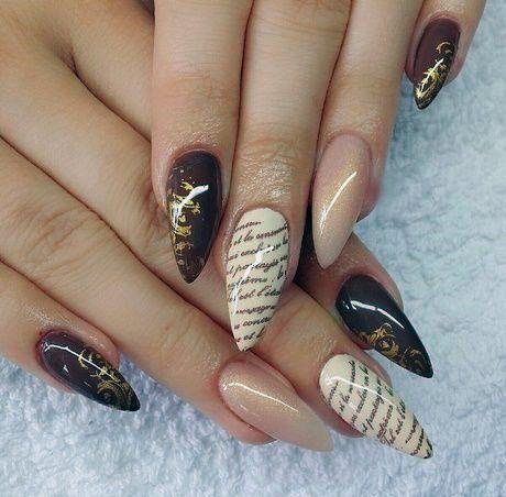 Poetry On Brown Nails Women
