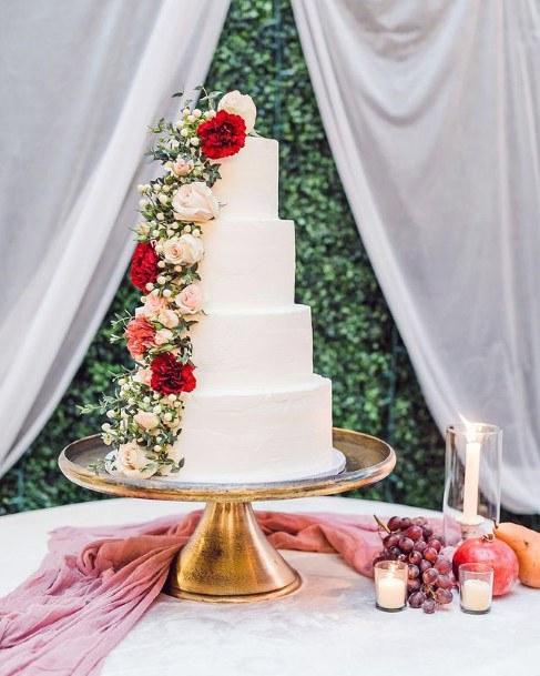 Polished Wood Wedding Cake Stand Women