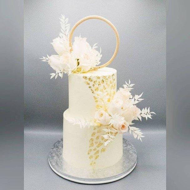 Pretty 2 Tier Wedding Cake