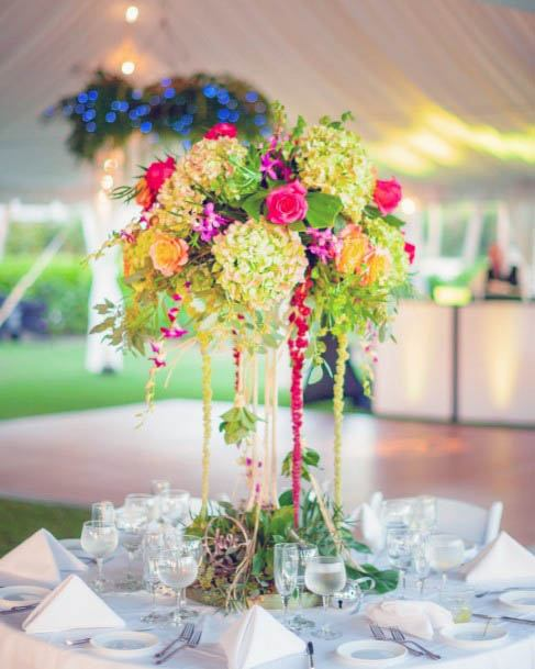 Pretty Beach Wedding Flowers