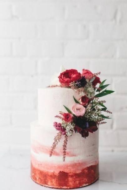 Pretty Buttercream Wedding Cake
